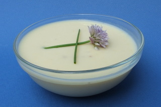 Vichyssoise with Chive Blossoms