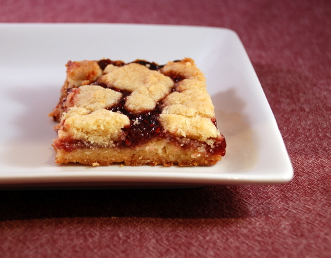 Homemade Raspberry Jam Bars
